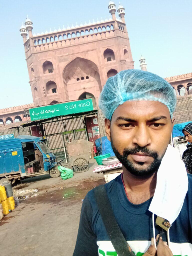 Selfie with jama masjit